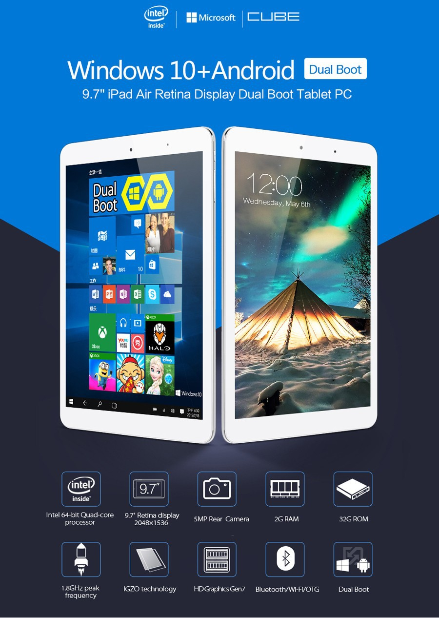 Cube i6 Air Dual Boot Tablet PC